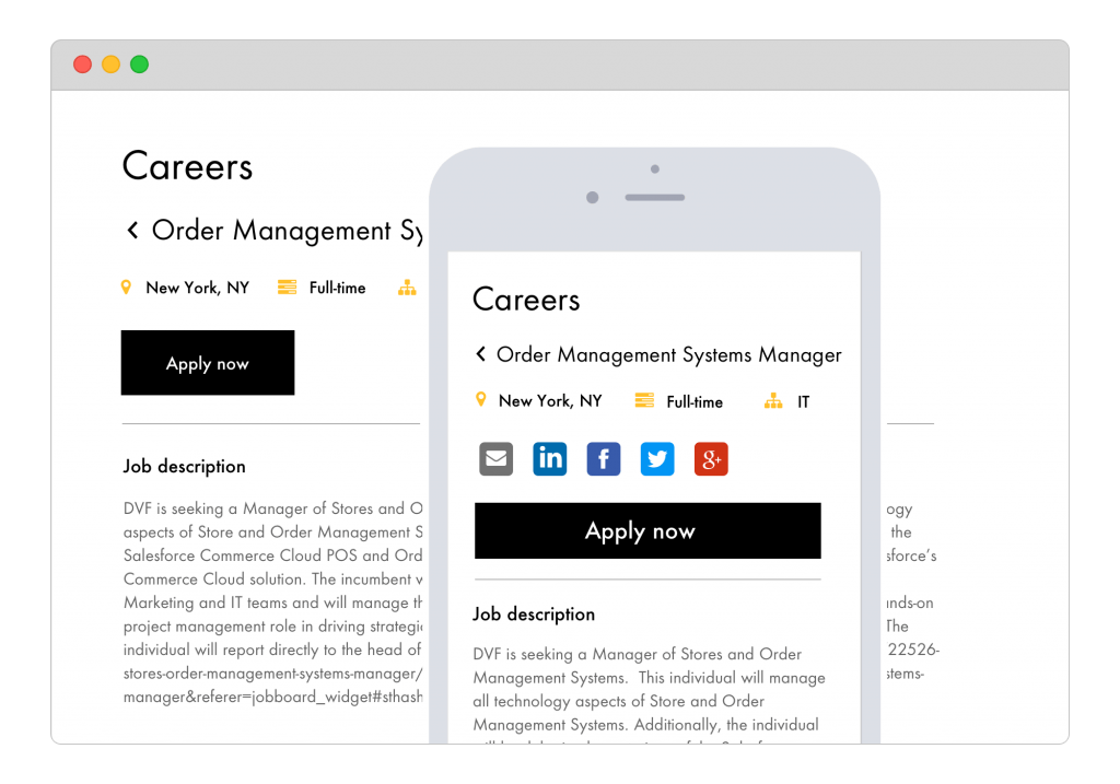 Branded Careers Page